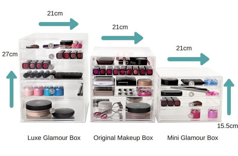Makeup Box Size Comparison