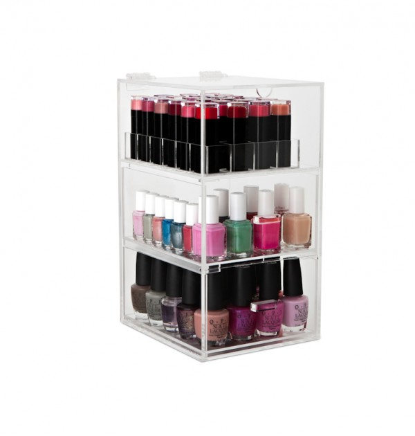 original nail polish tower with lipstick stand
