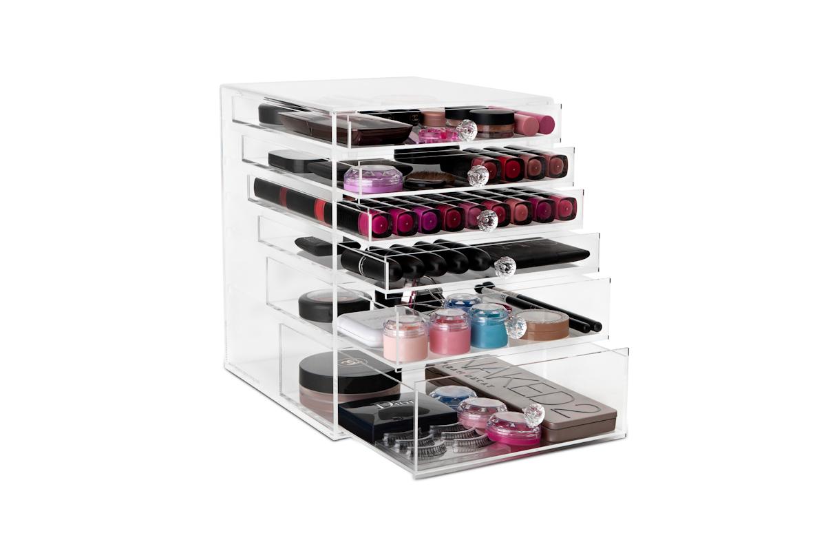 acrylic make up organizer