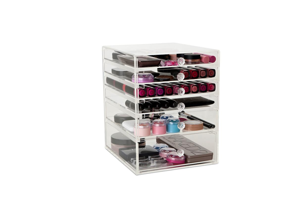 Acrylic Boxes Australia : Acrylic makeup organizer australia saubhaya