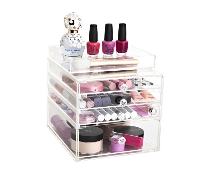 clear acrylic make up organiser