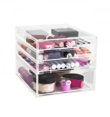 clear acrylic makeup organiser