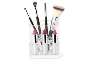 makeup brush and lipstick holder