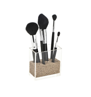 makeup brush storage