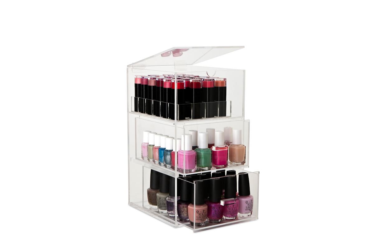 original nail polish tower lipstick stand the makeup. Black Bedroom Furniture Sets. Home Design Ideas