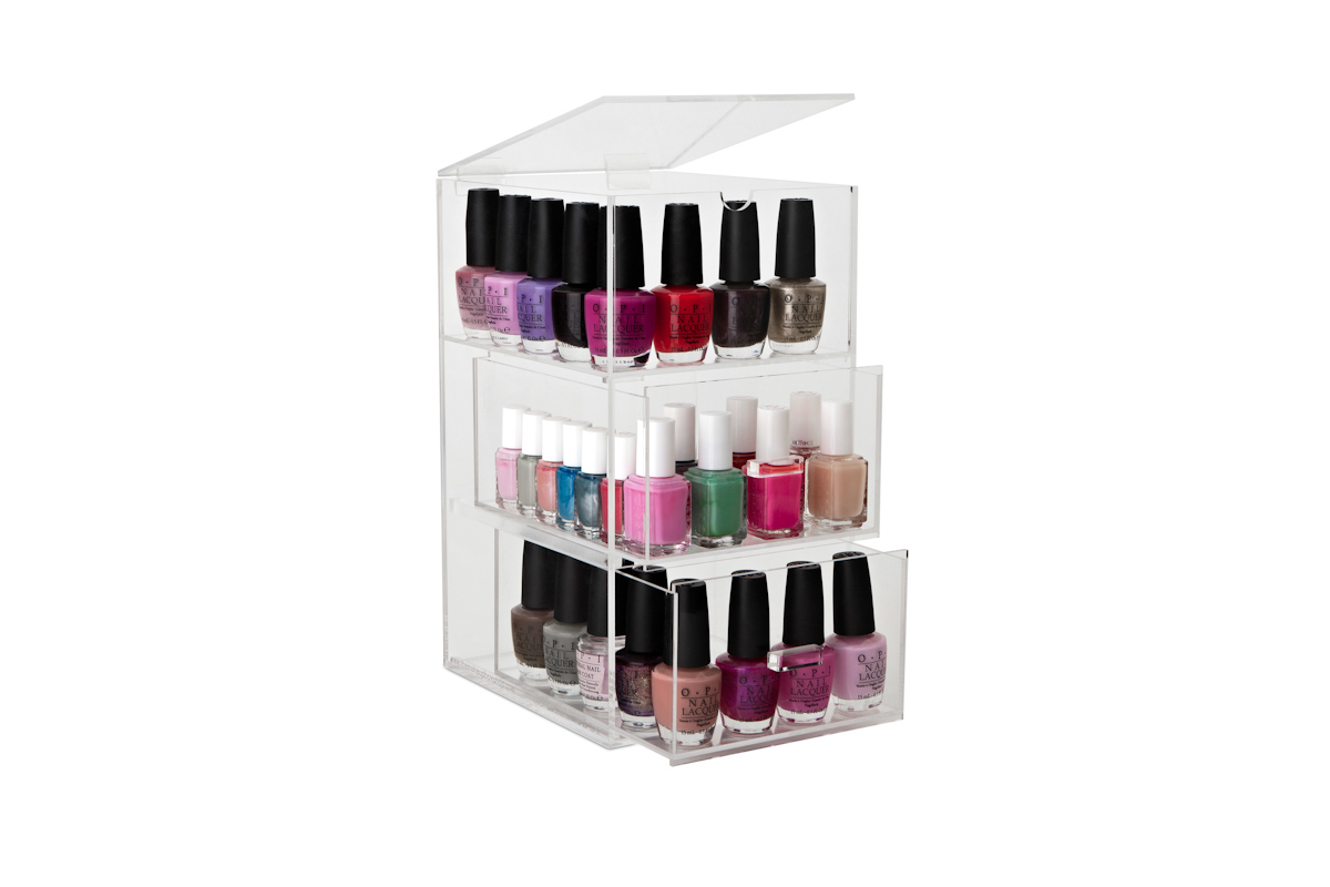 original nail polish tower lipstick stand the makeup. Black Bedroom Furniture Sets. Home Design Ideas