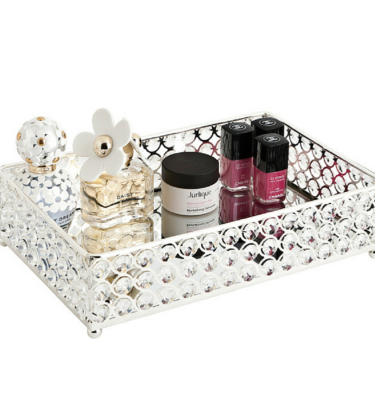 crystal mirrored tray