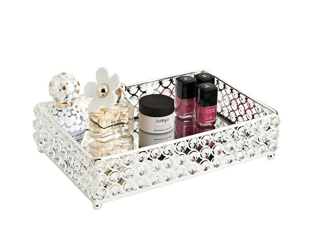 Mirrored bathroom vanity - Glamour Mirror Tray The Makeup Box Shop Australia