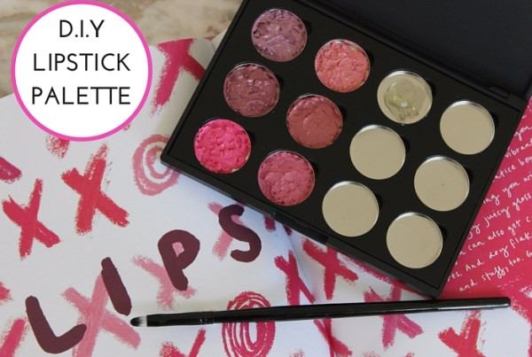 how to make your own lipstick palette