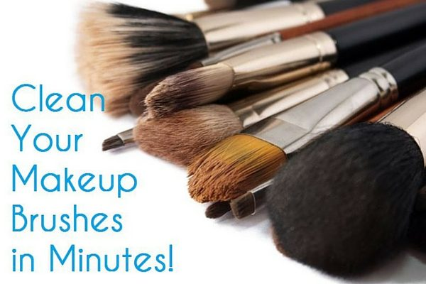clean your makeup brushes in minutes