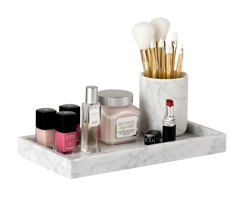Marble Brush Holder The Makeup Box Shop