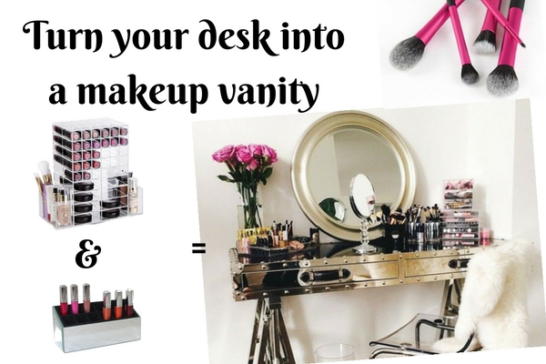 turn your-desk -nto-a-makeup-vanity