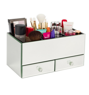 mirrored-makeup-organiser
