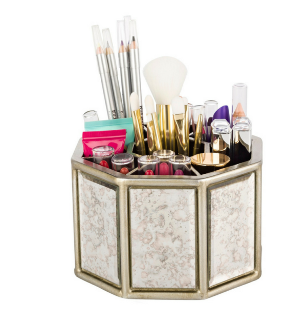 spinning-mirrored-makeup-organiser